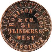 1 Penny (Robison Bros & Co - Melbourne, Victoria) -  reverse