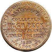 1 Penny (Hugh Peck - Melbourne, Victoria) -  reverse