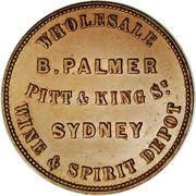 1 Penny (B. Palmer - Sydney, New South Wales) -  reverse