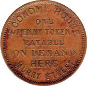 1 Penny (Joseph Moir - Hobart, Tasmania) -  obverse