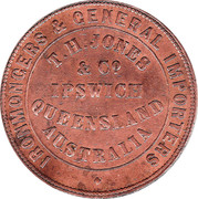 1 Penny (T.H.Jones & Co - Ipswich, Queensland) -  reverse