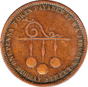 1 Penny (William Andrew Jarvey - Hobart, Tasmania) -  obverse