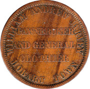 1 Penny (William Andrew Jarvey - Hobart, Tasmania) -  reverse