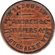 1 Penny (Jno. Andrew & Co - Melbourne, Victoria) -  reverse