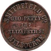 1 Penny (Geo. Petty - Melbourne , Victoria) -  reverse
