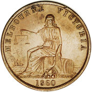 1 Penny (John Andrew & Co. - Melbourne, Victoria) -  obverse
