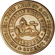 1 Penny (John Andrew & Co. - Melbourne, Victoria) -  reverse