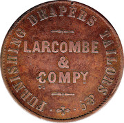 1 Penny (Larcombe & Compy. - Brisbane, New South Wales) -  reverse
