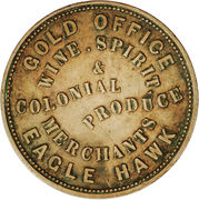 1 Penny (J. W. & G. Williams - Eaglehawk, Victoria) -  obverse