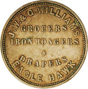 1 Penny (J. W. & G. Williams - Eaglehawk, Victoria) -  reverse