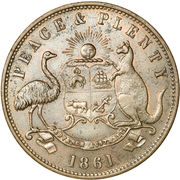 1 Penny (Robert Hyde & Co. - Melbourne, Victoria) -  obverse