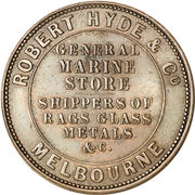 1 Penny (Robert Hyde & Co. - Melbourne, Victoria) -  reverse