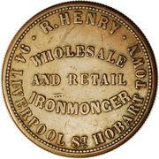 1 Penny (R. Henry - Hobart, Tasmania) -  reverse