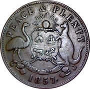 1 Penny Token (Hanks & Company - Sydney, New South Wales) -  reverse