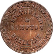 1 Penny (Southward & Sumpton, Ballarat, Victoria) -  reverse
