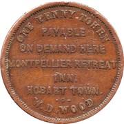 1 Penny (W.D.Wood - Hobart, Tasmania) -  reverse