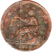 1 Penny (A. Toogood - Sydney, New South Wales) -  obverse