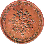 1 Penny (H. Lipscombe - Hobart, Tasmania) -  obverse