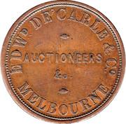 1 Penny (Edw.De Carle & Co - Melbourne, Victoria) -  reverse