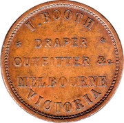1 Penny (I. Booth - Melbourne, Victoria) -  reverse