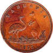 1 Penny (Lewis Abrahams - Hobart, Tasmania) -  obverse