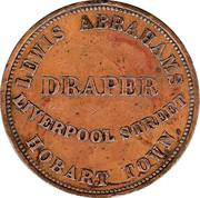 1 Penny (Lewis Abrahams - Hobart, Tasmania) -  reverse