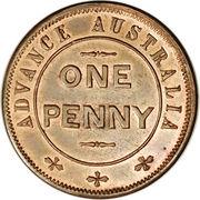 1 Penny (W.J. Taylor - Advance Australia) -  reverse
