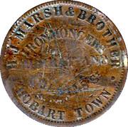 1 Penny (H. J. Marsh & Brother - Hobart, Tasmania) – obverse