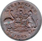 ½ Penny (John Pettigrew & Co. - Ipswich, Queensland) -  obverse