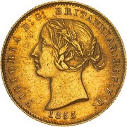 ½ Sovereign - Victoria (Pattern) -  obverse