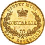 ½ Sovereign - Victoria (Pattern) -  reverse