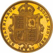 ½ Sovereign - Victoria -  obverse
