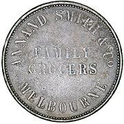 1 Penny - Annand Smith Co. Family Grocers – obverse