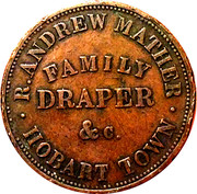 1 Penny (Robert Andrew Mather, Family Draper - Hobart, Tasmania) – obverse