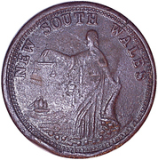 1 Penny (Whitty & Brown - Sydney, New South Wales) -  reverse