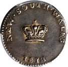 "15 Pence - George III ""Dump"" (New South Wales Colony) – obverse"