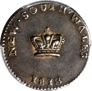"15 Pence - George III ""Dump"" (New South Wales Colony) -  obverse"