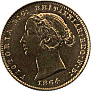 ½ Sovereign - Victoria -  obverse