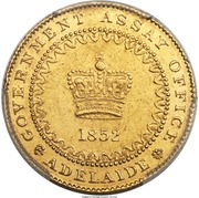 "1 Pound - Victoria ""Adelaide Pound"" (South Australia Colony) – obverse"