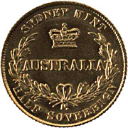 ½ Sovereign - Victoria -  reverse