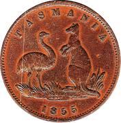 ½ Penny (Lewis Abrahams - Hobart, Tasmania) -  obverse