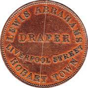 ½ Penny (Lewis Abrahams - Hobart, Tasmania) -  reverse