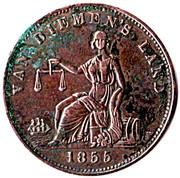 ½ Penny (R. Josephs - New Town, Tasmania) -  obverse