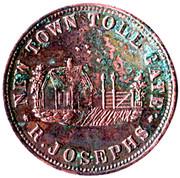 ½ Penny (R. Josephs - New Town, Tasmania) -  reverse