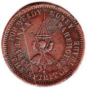 ½ Penny (R.S.Waterhouse - Hobart, Tasmania) -  obverse