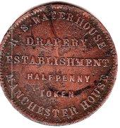 ½ Penny (R.S.Waterhouse - Hobart, Tasmania) -  reverse