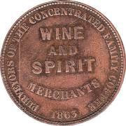 1 Penny (Metcalfe & Lloyd - Sydney, New South Wales) -  reverse