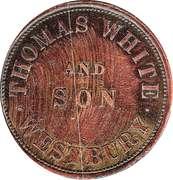 1 Penny (Thomas White & Son - Westbury, Tasmania) -  reverse