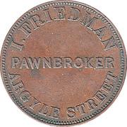 1 Penny (I. Friedman - Hobart, Tasmania) -  obverse