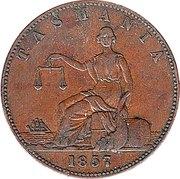 1 Penny (I. Friedman - Hobart, Tasmania) -  reverse